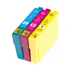 PACK 3 CARTOUCHES C/Y/M Type EPSON T1302/03/04
