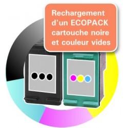 RECHARGEMENT ECOPACK 2 CARTOUCHES D'ENCRE Type HP 338 et HP 343