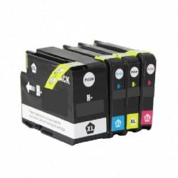 ECOPACK 4 CARTOUCHES D'ENCRE Type HP 950xl/951xl B/C/Y/M