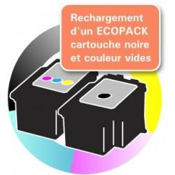 RECHARGEMENT ECOPACK 2 CARTOUCHES D'ENCRE Type CANON 545/546