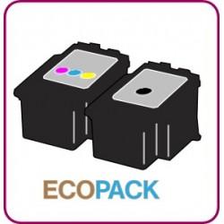 ECOPACK 2 CARTOUCHES D'ENCRE Type CANON 540/541